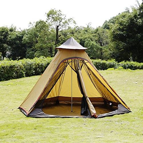 ANCHEER-Teepee-Tent-for-C&ing-Tipi-Tent-Instant- & ANCHEER Teepee Tent for Camping Tipi Tent Instant Family Tent 4 ...