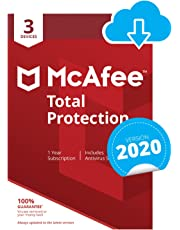 McAfee Total Protection 2020   3 Devices   1 Year   PC/Mac/Android/Smartphones   Download Code