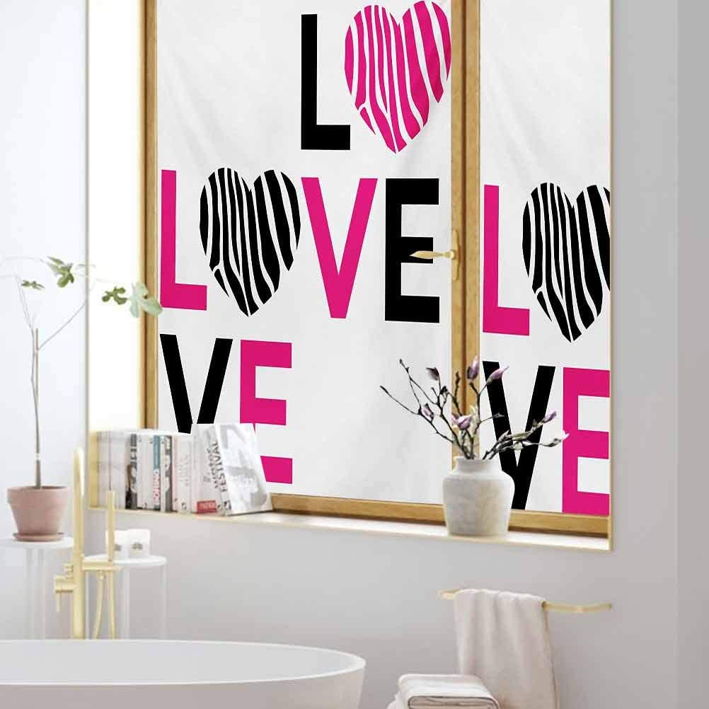 8x12 FT Pink Zebra Vinyl Photography Backdrop,I Love You Calligraphy Zebra Stripes Hearts Valentines Illustration Background for Photo Backdrop Baby Newborn Photo Studio Props