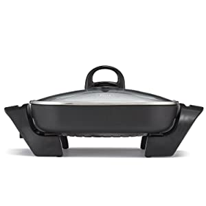 BELLA 12 x 12 inch Electric Skillet with Non-Stick Coating BPA Free