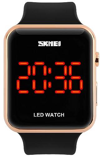 carlien deporte relojes hombres moda digital LED resistente al agua reloj de silicona para mujer estudiante reloj de pulsera electrónica digital-watch: ...