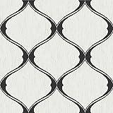 Graham & Brown 20-735 Olympus Black/White Wallpaper