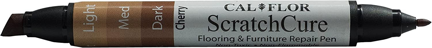 Cal-Flor PE49404CF ScratchCure 3 Shade Double Tipped Repair Pen For Use On Wood,