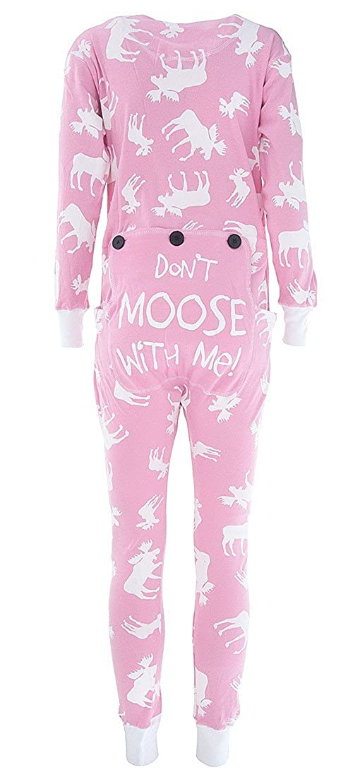 004401f4a964 LazyOne Womens Classic Moose Pink All-in-One Flapjack Adult  Amazon ...