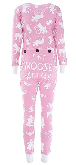 LazyOne Womens Classic Moose Pink All-in-One Flapjack Adult  Amazon.co.uk   Clothing 67fb98080