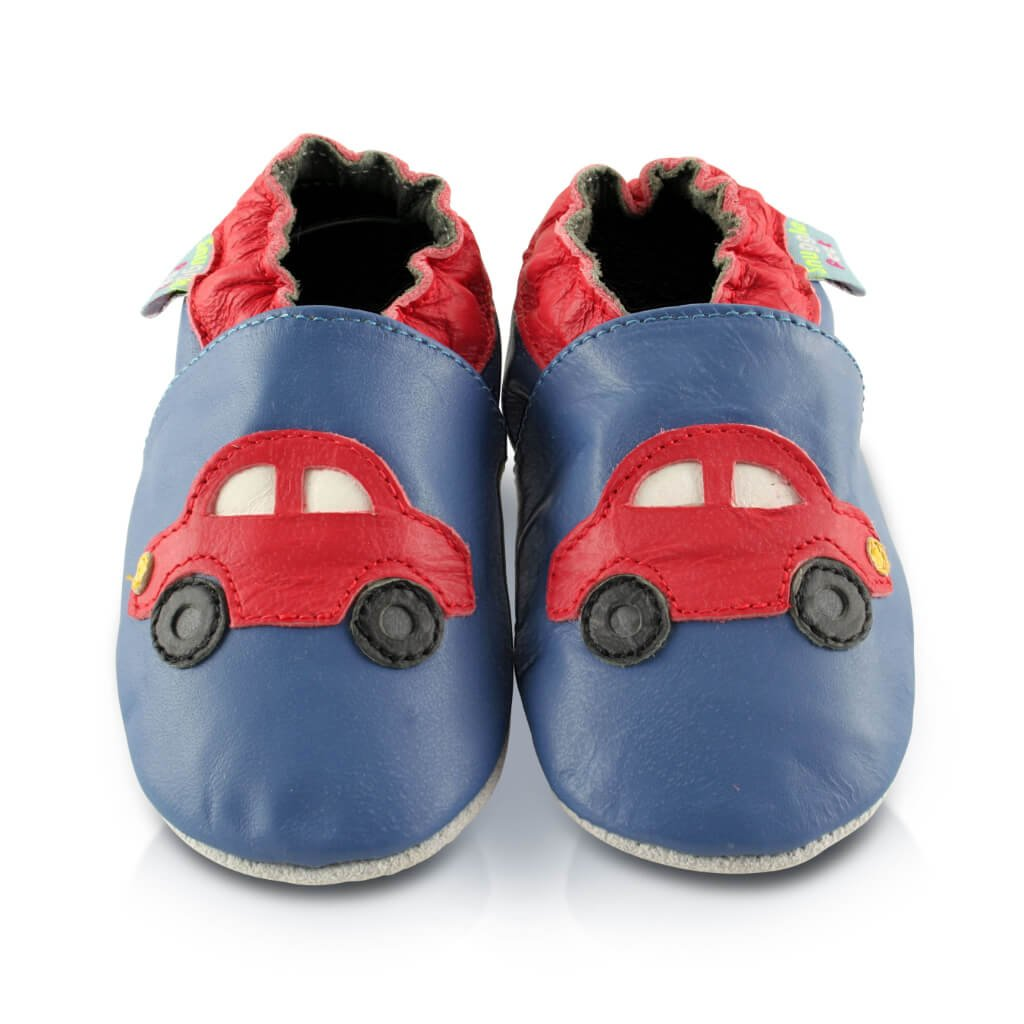 Snuggle Feet rote Autos Babyschuhe