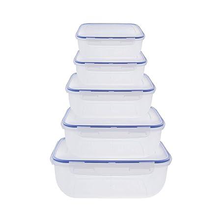 Juego de 5 y 3 recipientes grandes de plástico impermeable ...