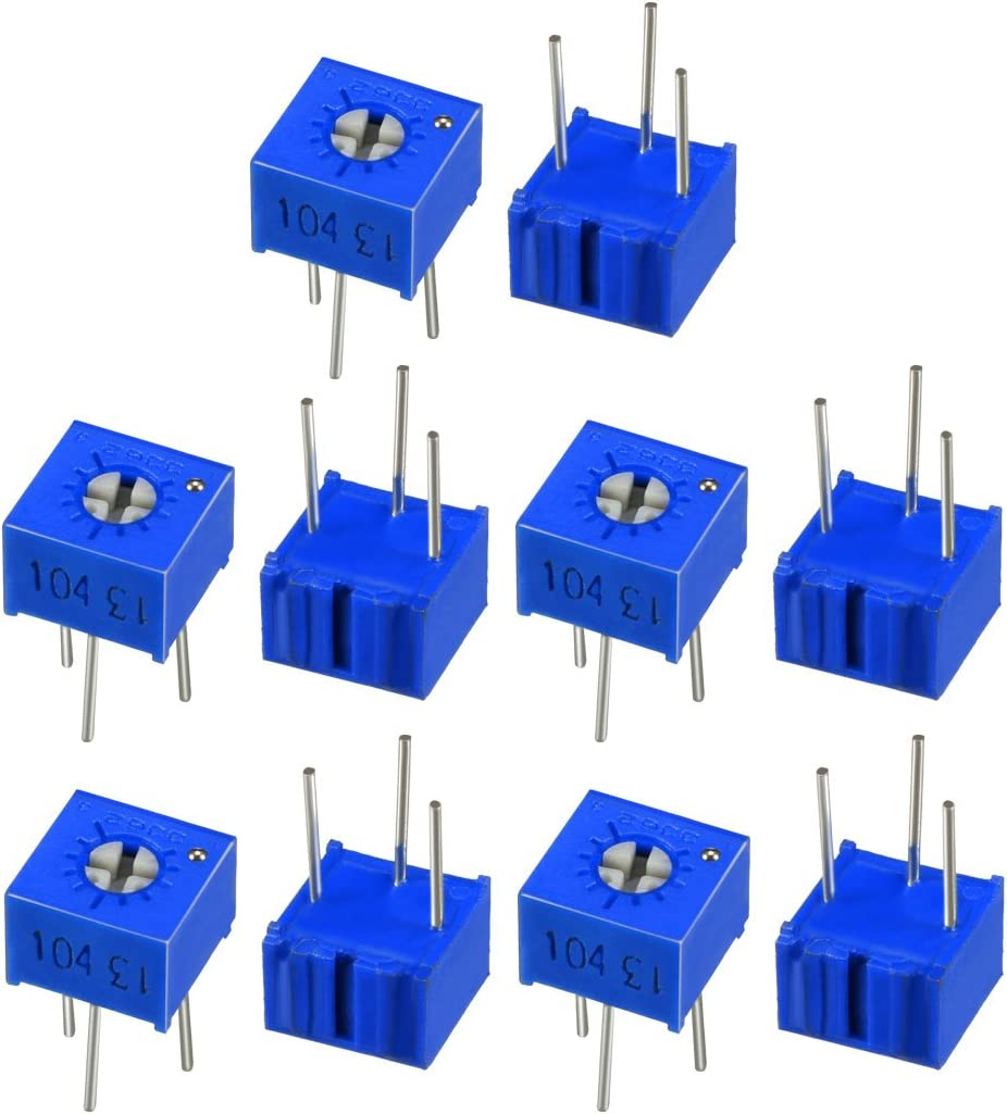 uxcell Resistors 100 Ohm Top Adjustment Horizontal Cermet Potentiometer 3 Pcs