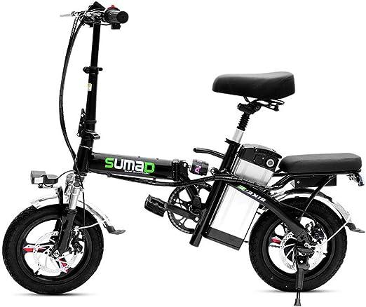 ZBB Bicicleta eléctrica Plegable Ligera de Aluminio EBike con ...