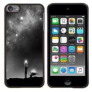 Eason Shop / Premium SLIM PC / Aliminium Casa Carcasa Funda Case Bandera Cover - Dios Vía Láctea Estrellas significado profundo - For Apple iPod Touch 6 6th Touch6