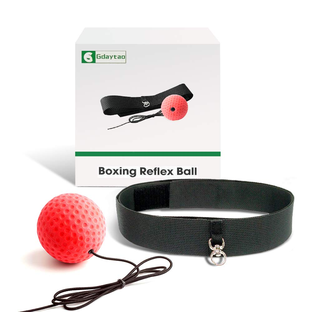 Perfect Improving Speed Reactions Punching Speed Hand Eye Coordination Great Fight Trainer on String Gdaytao Boxing Reflex Ball 2 Training Speed Levels Agility Boxing Equipment with Headband