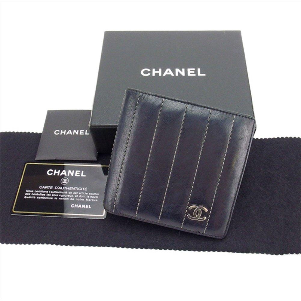 [シャネル] CHANEL 二つ折り財布 コンパクトサイズ レディース ココマーク付き A30042 マドモアゼルライン 中古 レア セール Y3329 B0772PHC9Q