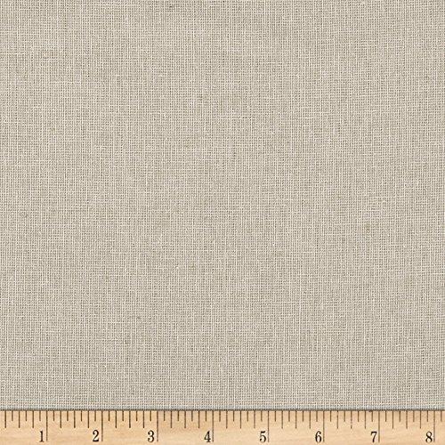 Homespun Linen - Robert Kaufman Kaufman Essex Yarn Dyed Linen Blend Homespun Limestone Fabric by The Yard,
