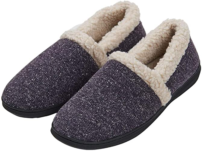 NEW MEN/'S FAUX SUEDE WARM AND COZY HOUSE SLIPPERS *Run Slightly narrow