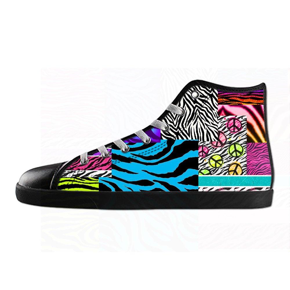 Custom Custom Custom zebra di stampa Uomo Canvas scarpe I lacci delle scarpe in Alto sopra le scarpe da ginnastica di scarpe scarpe di Tela. e2402d