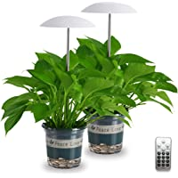 LED Grow Light for Indoor Plants 2 Pack, Intelligent USB Small Plant Lights with Remote Controller, Height Adjustable…