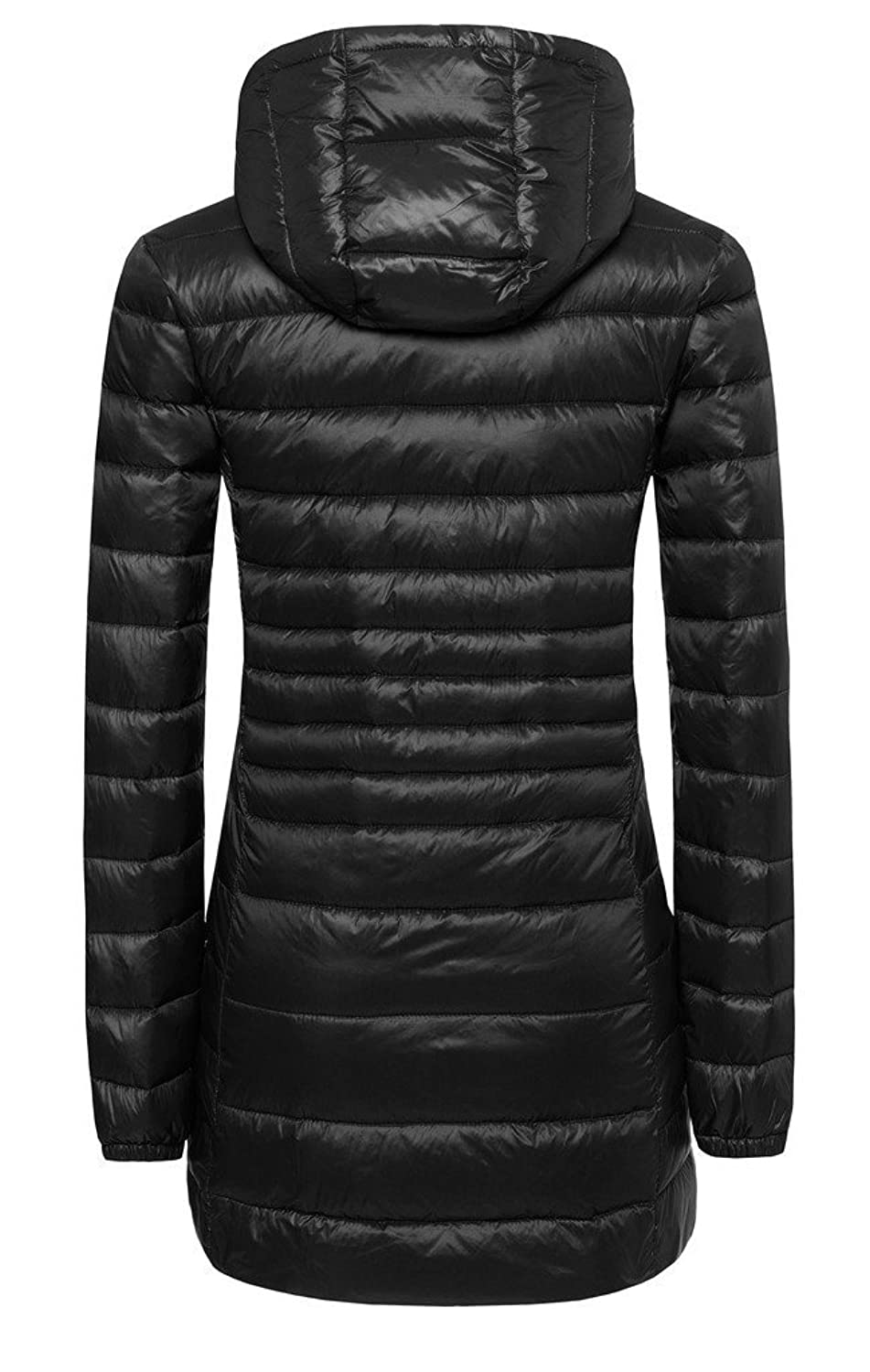 ilishop Women's Winter Outwear Light Coat Hooded Down Jacket at ...