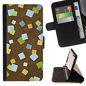 - Design Post It - - Monedero PU titular de la tarjeta de cr????dito de cuero cubierta de la caja de la bolsa FOR Apple Iphone 6 RetroCandy
