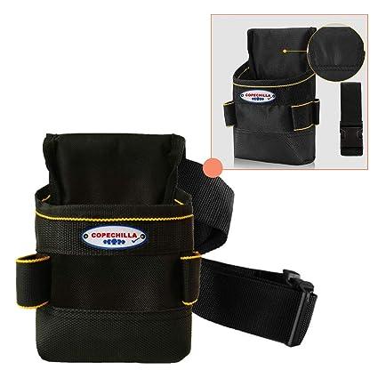 Copechilla cinturon portaherramientas electricista con base doble gruesa PVC,portaherramientas cinturon 8 bolsillos engrosamiento impermeable 600D ...