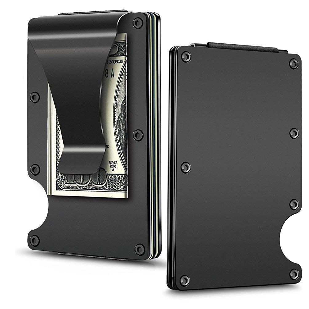 Money Clip, Kedious Metal Aluminum Slim Wallet Credit Card Holder, Front Pocket RFID Wallet for Men and Women