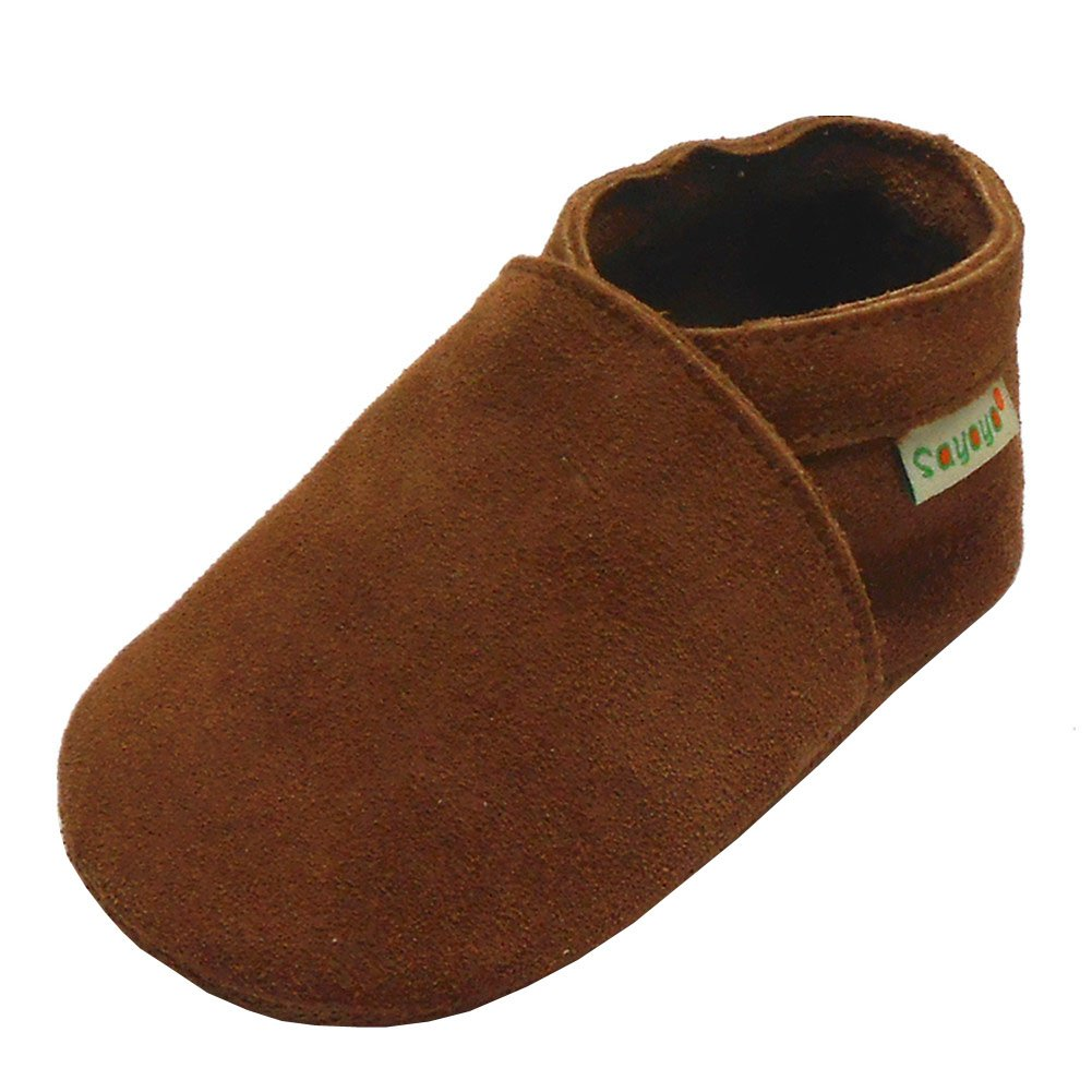 Sayoyo Baby Soft Sole Prewalkers Baby Toddler Shoes Cattle cashmere Brown Shoes Parent1820