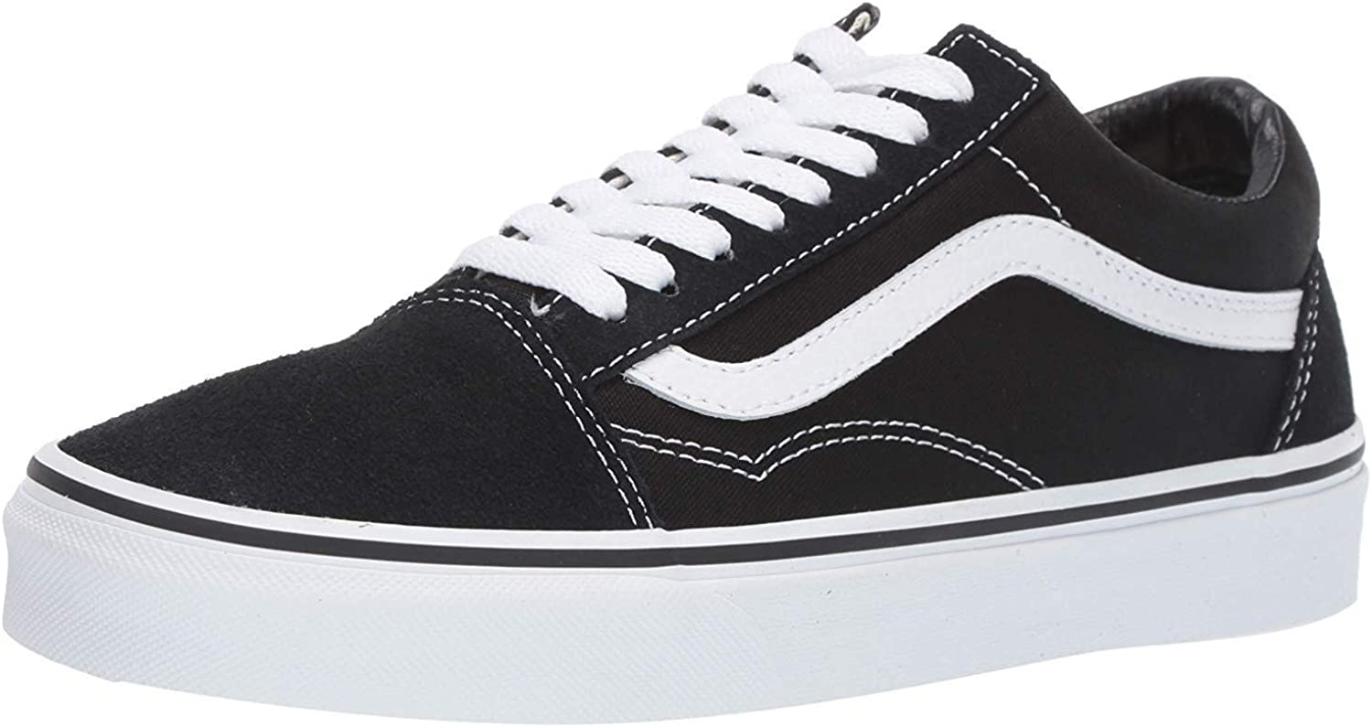 Vans Unisex Old Skool Black/White Canvas Skate Shoes 8.0 Men / 9.5 Women
