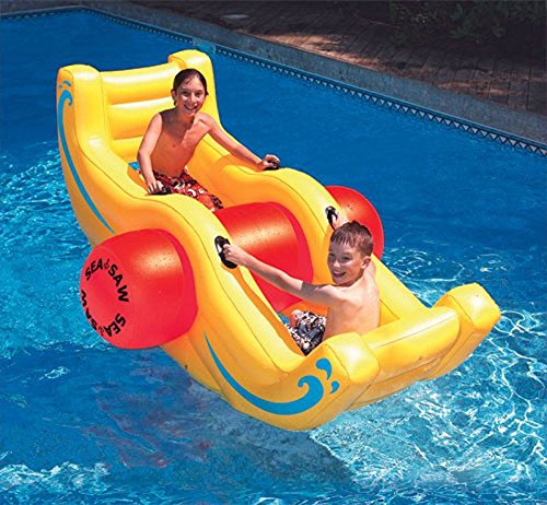 Sea Saw Rocker Inflatable Kids Lounge Toy for Swimming Pool Pond (Float Rocker Fun)