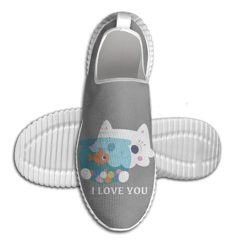 I Love You Cat Kiss Fish Lightweight Breathable Casual Sports Shoes Fashion Sneakers Shoes