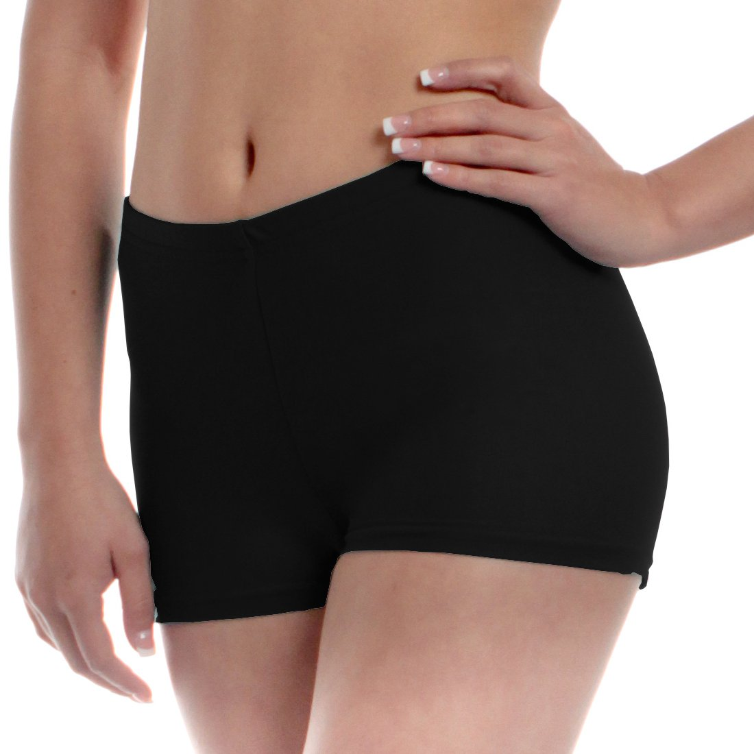 Mens Long Dance Shorts Small Black by B Dancewear Adult Sizes by Bailar Dancewear