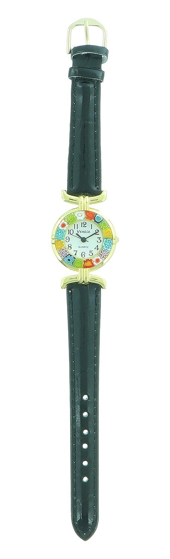CC ZECCHIN ヴェネチアングラス 腕時計 φ26 ブラック DG5422-02 B0765Z7JK2ブラック φ26