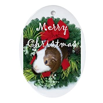 Image Unavailable. Image not available for. Color: CafePress Guinea Pig  Christmas Oval Ornament ... - Amazon.com: CafePress Guinea Pig Christmas Oval Ornament Oval