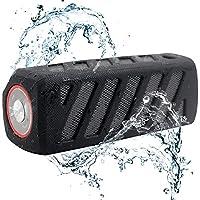Waterproof NFC Protable Bluetooth 3.0 Outdoor Speakers Subwoofer, 10W, 4000mAh, IPX4, Hands-free Calls EXKOKORO Protable PowerBank Speaker, AUX Line-In Port(Black)