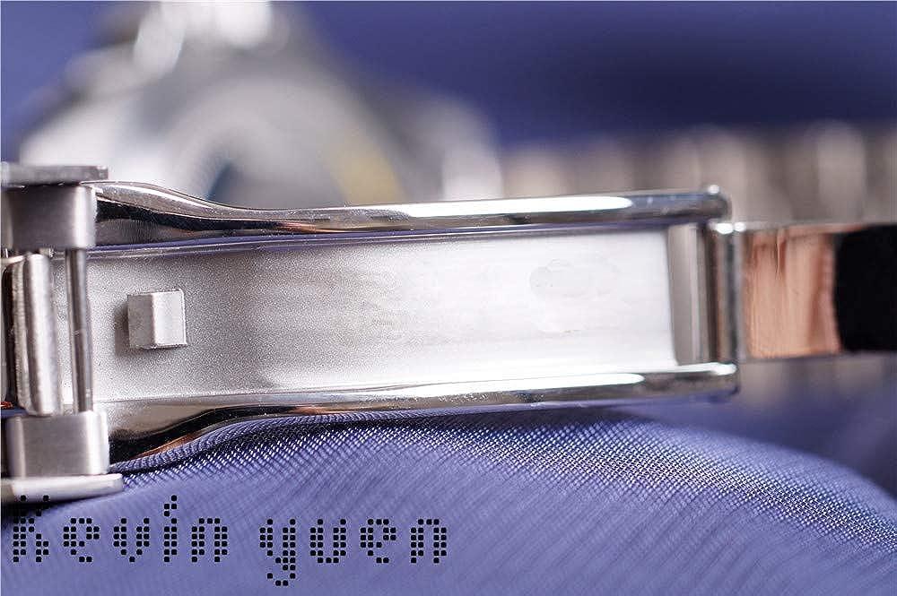 Mens Gmt Automatic Mechanical Watches Orologio da uomo in acciaio inossidabile con quadrante in ceramica blu rosso con vetro zaffiro da 40 mm 4
