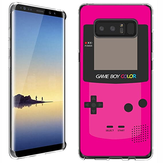 quality design 9f510 809ed Galaxy Note 8 case - [GameBoy Color Magenta] (Clear) PaletteShield Soft  Flexible TPU gel skin phone cover (fit Samsung Galaxy Note 8/ Note8)