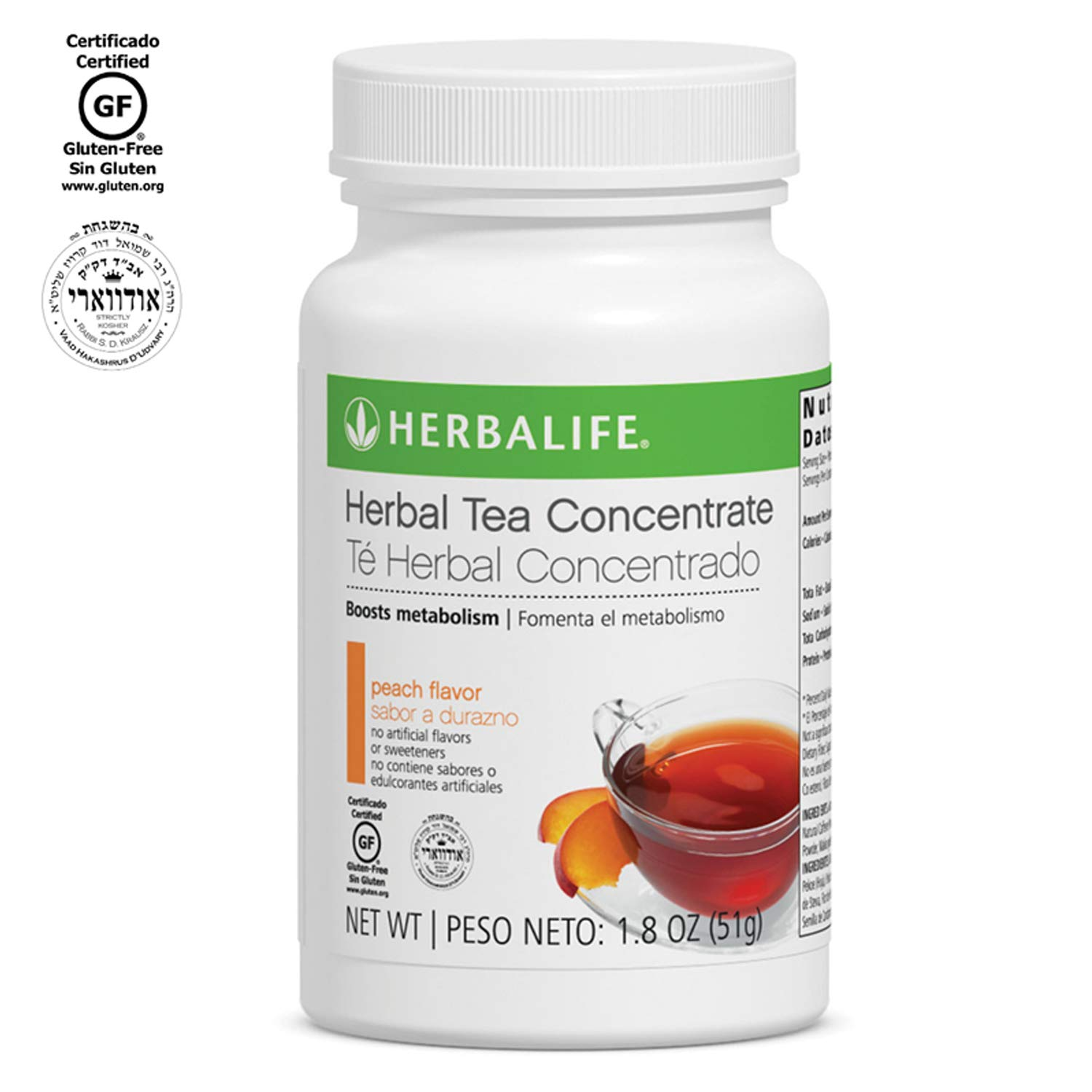 Herbalife, Herbal Concentrate Tea, Peach, 3.53 oz (100 g)