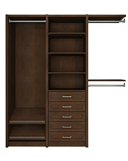 ClosetMaid 6106240 Spacecreations Wood Closet Organizer Kit, 64 Inch To  99 Inch,