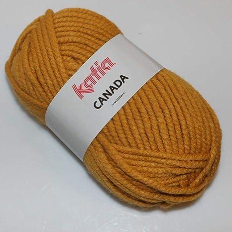 Lanas Katia Canada Ovillo de Color Mostaza Cod. 31: Amazon.es: Hogar