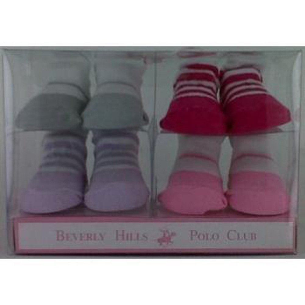 Beverly Hills Polo 4 Pc Sock Set Assortment for Girls