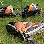 Fiskars staysharp max reel mower 11 the smart design of reel mower offers a cleaner cut without the hassles of gasoline, oil, battery charging, electrical cords or loud engine noise a combination of advanced technologies make the staysharp plus reel mower 40-percent easier to push than other reel mowers patent-pending inertia drive reel delivers 75-percent more cutting power to blast through twigs, weeds and tough spots that would jam other reel mowers