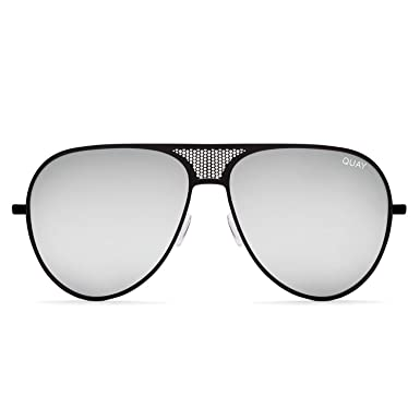 b7e7a20a4ae0d Quay Australia ICONIC Women s Sunglasses Kylie Oversized Aviator - Black  Silver