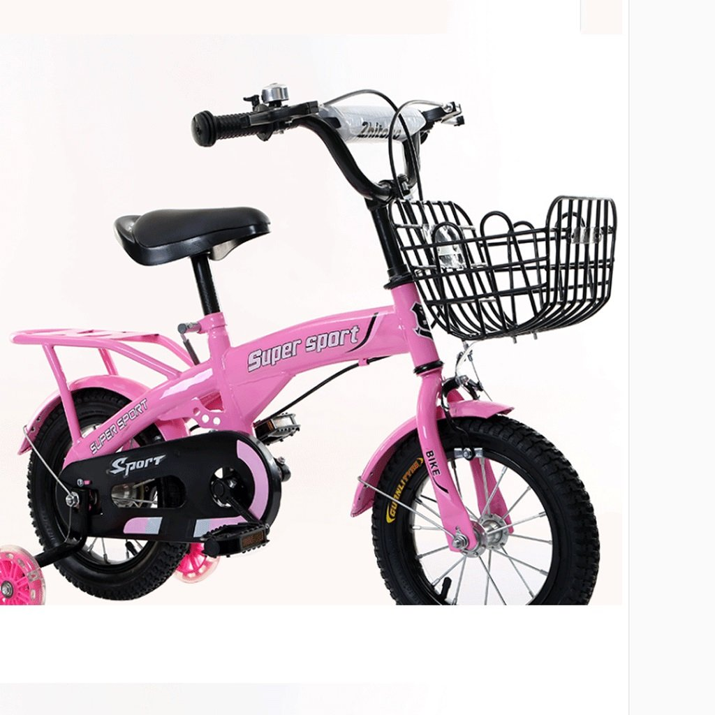 子供の三輪車2-8歳の男性と女性のベビー自転車の子供は自転車のインフレータブルホイールをプッシュ (色 : ピンク ぴんく, サイズ さいず : 16 inches) B07DCH3N5K 16 inches|ピンク ぴんく ピンク ぴんく 16 inches