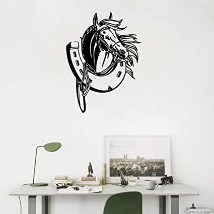 Bon BIBITIME Creative Saddle Horse Head Wall Decal Living Room Cartoon Animal  Vinyl Sticker For Bedroom Study