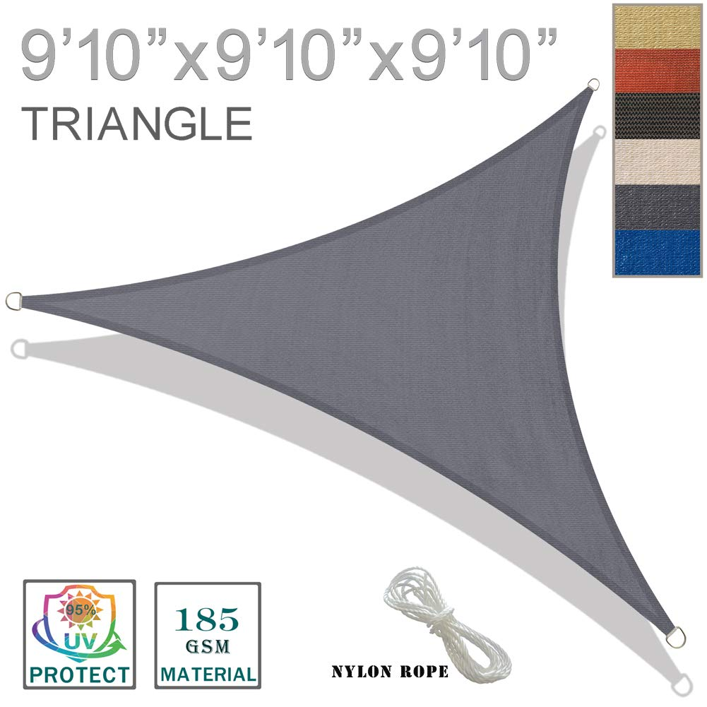 SUNNY GUARD SG2CT0407 Shade Sails, Charcoal
