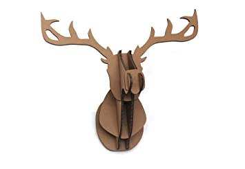 Amazon Sunshinewhite DIY 3D Cardboard Deer Head Wall Mount