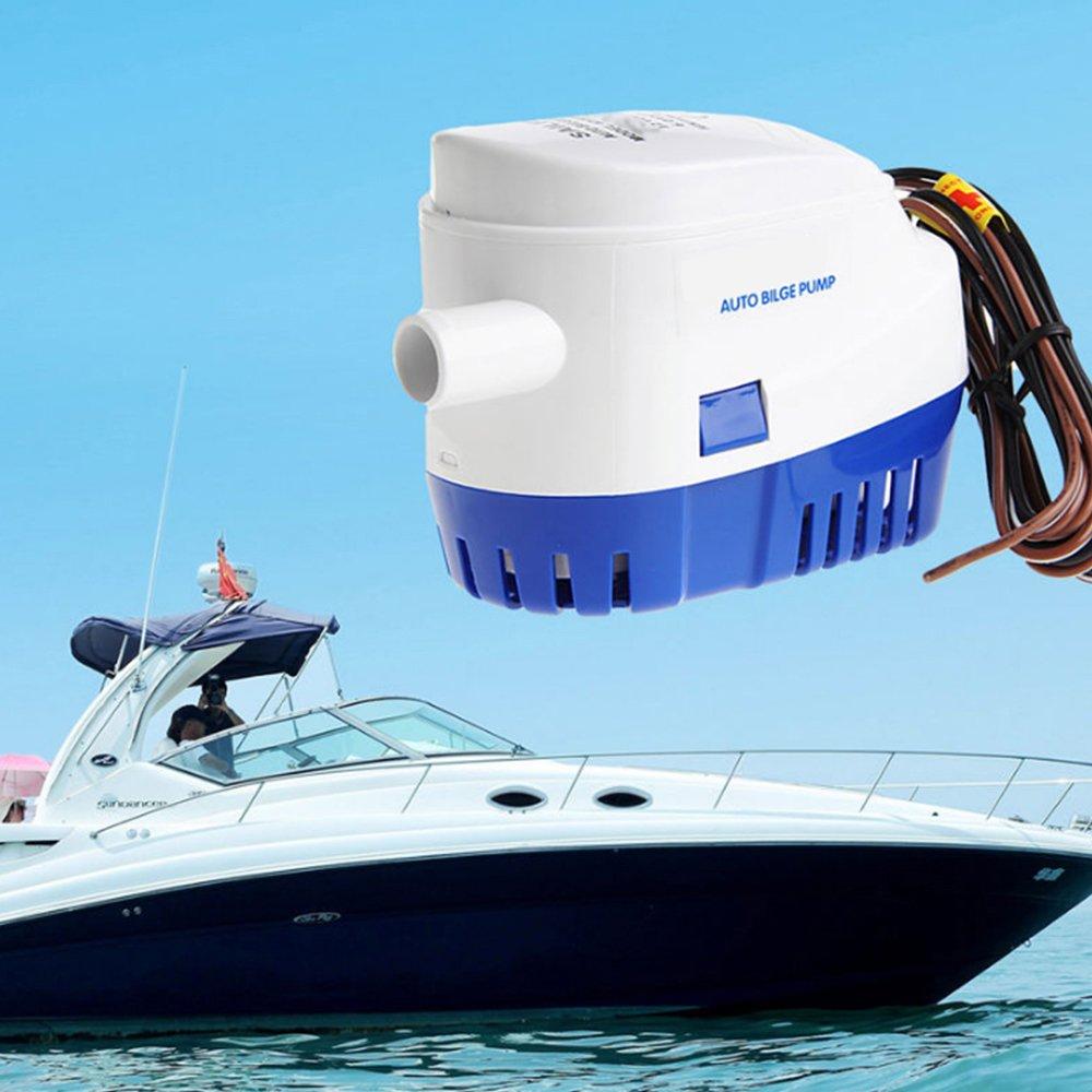Amazon.com : 12V 1100GPH Boat Marine Automatic Submersible Auto ...