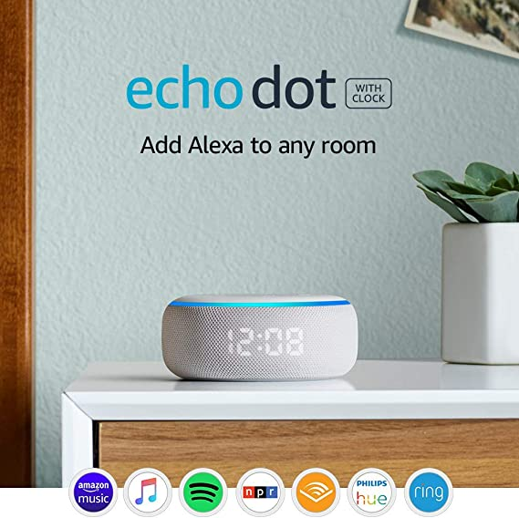 Echo Dot (3rd Gen) - Smart speaker with clock and Alexa - Sandstone