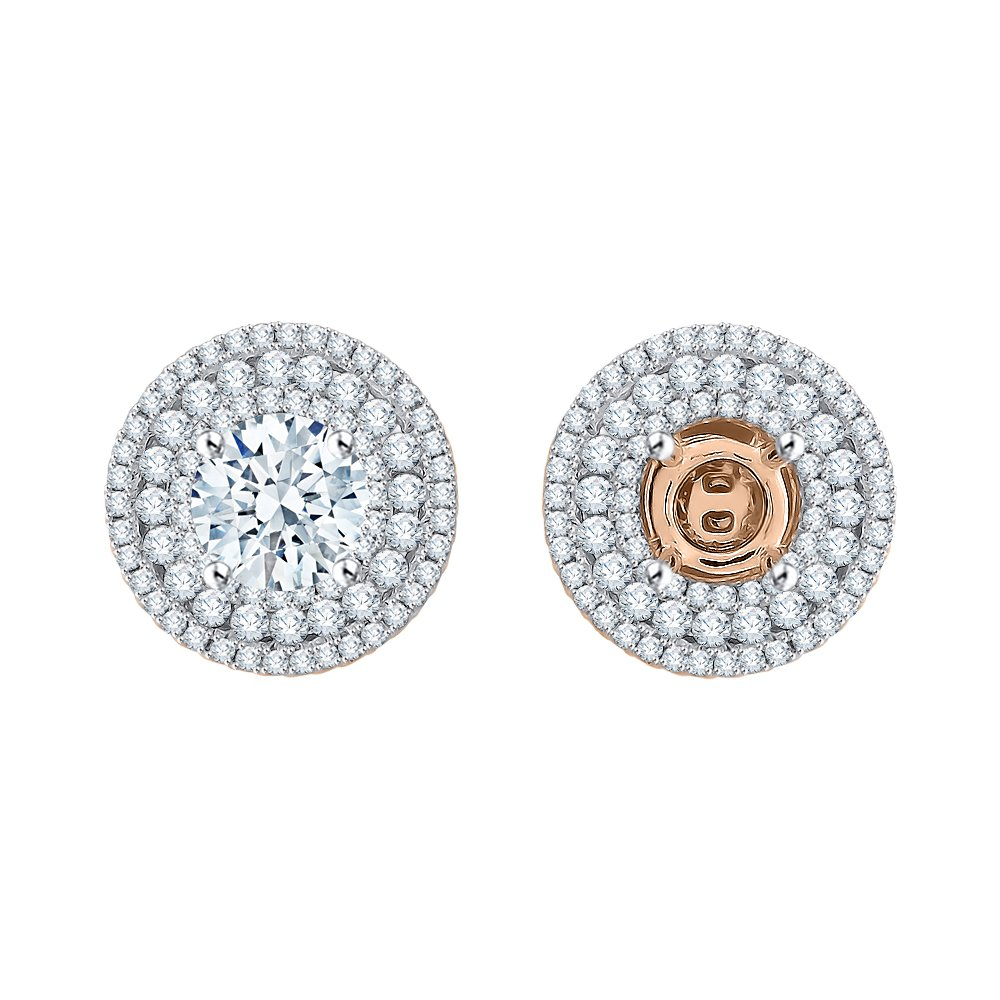 Diamond Earring Jackets in 14K Rose Gold (3/4 cttw) (Color IJ, Clarity I1)