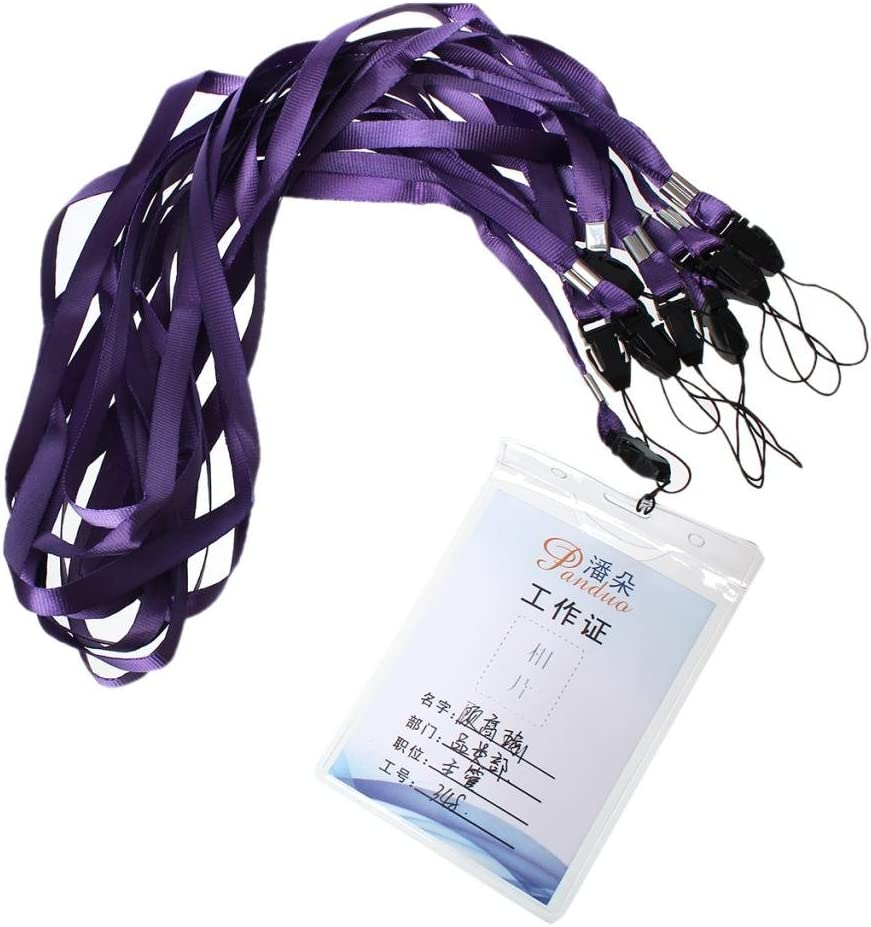 CKB LTD 50 x Blue Lanyard Neck Strap For ID Card//Mobile Phone//Gym Key//Access Pass Holder Loop Clip