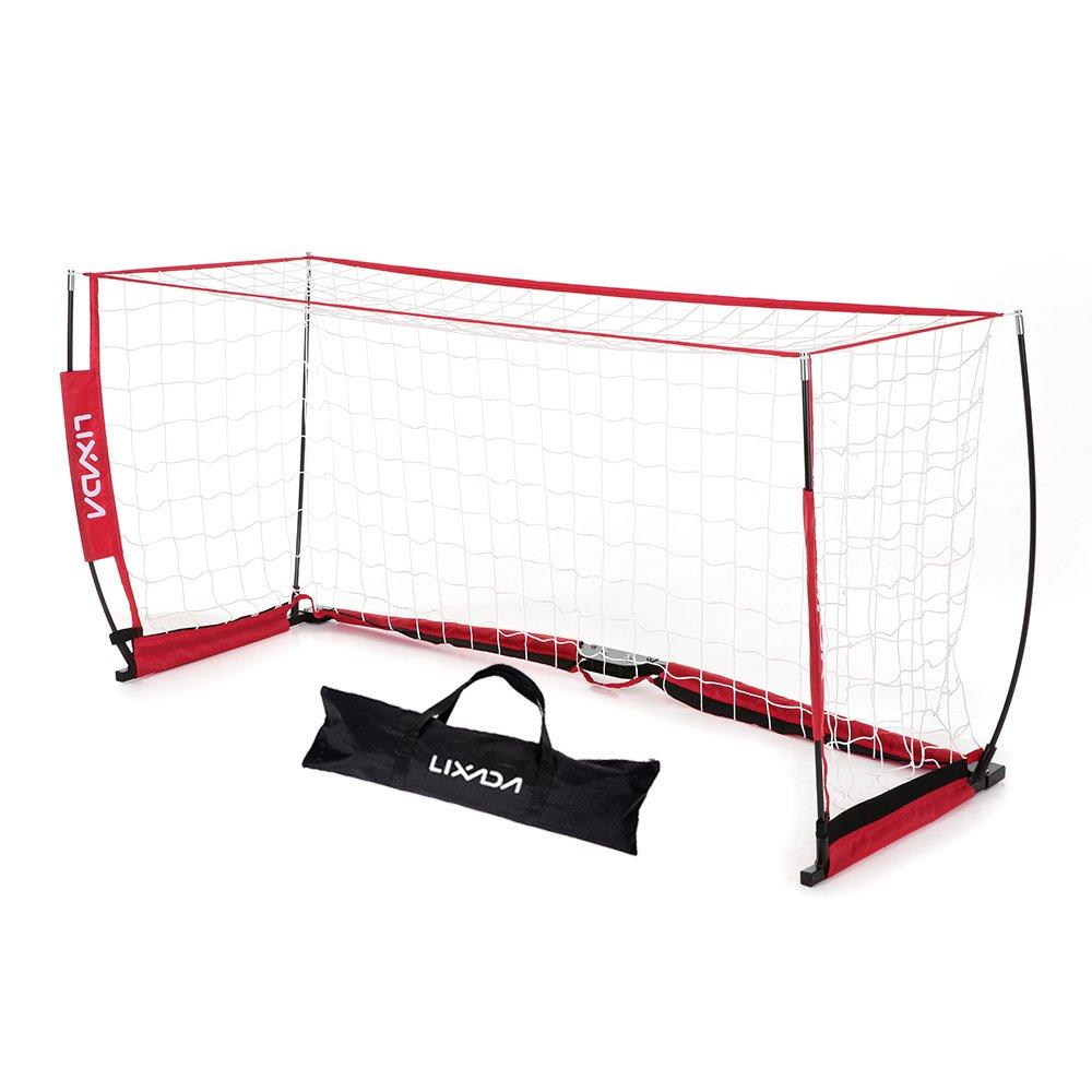 Lixada Soccer Goal with Net 6.6 X 3.3 Ftポータブル取り外し可能BowスタイルNetファイバーグラスPole for playgroundトレーニングホーム裏庭 B07543FPY2