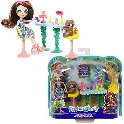 Enchantimals Slow-Down Salon & Sela Sloth Doll: Toys & Games